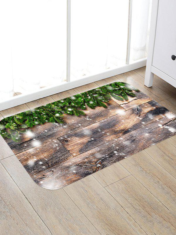 Outfit Christmas Tree Branch Wooden Grain Pattern Water Absorption Area Rug