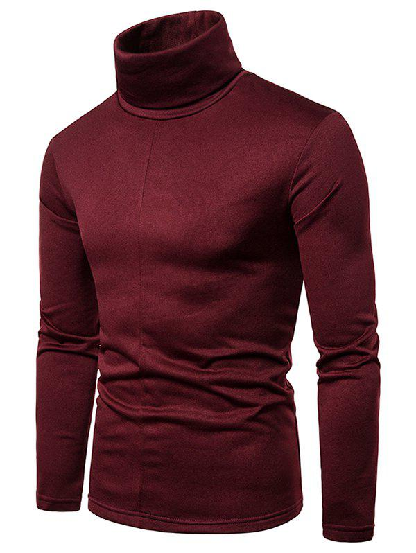 Store Solid Color Turtleneck Long Sleeve T Shirt