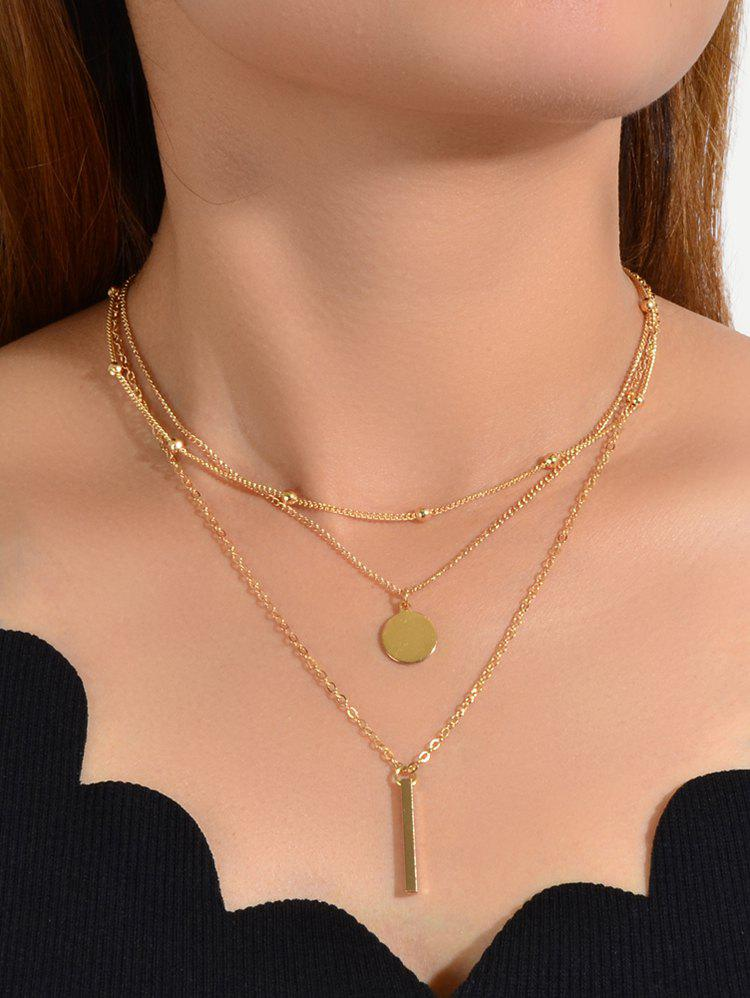 Buy 3Pcs Pendant Geometric Necklace Set