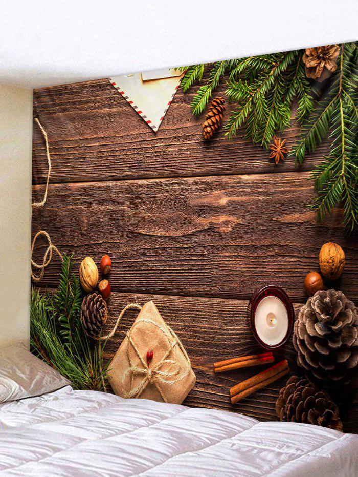 Store Christmas Gift Wood Grain Print Tapestry Wall Hanging Art Decoration