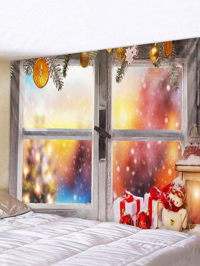 Outfit Christmas Gifts Snowman Window Print Tapestry Wall Hanging Art Decoration