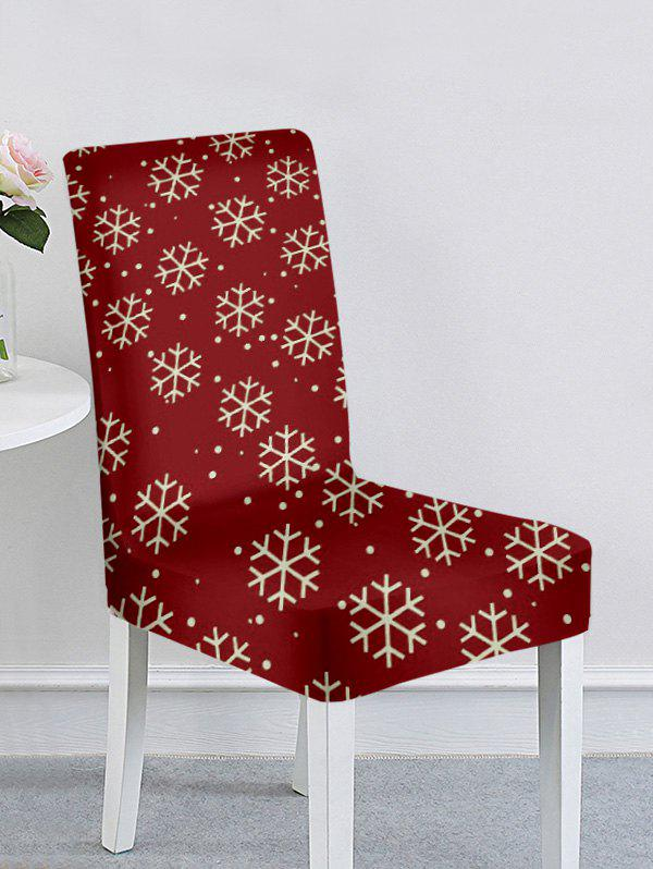 Unique Christmas Tree Snowflake Elk Print Chair Cover