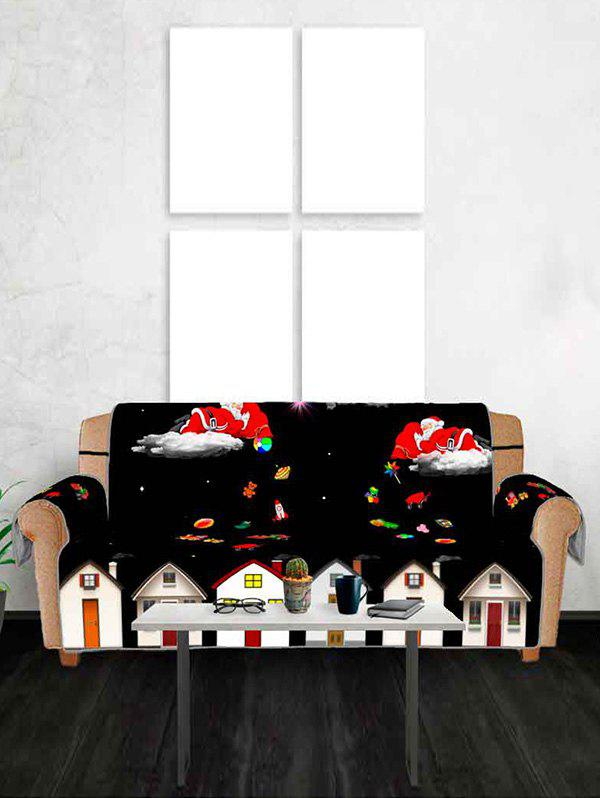 Trendy Christmas Night Santa Claus Gifts Pattern Couch Cover