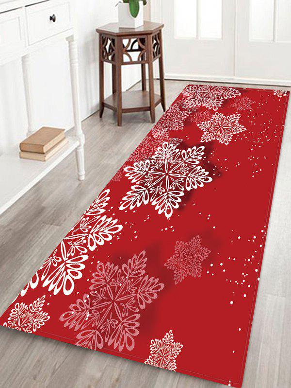 Fashion Christmas Snowflake Pattern Floor Rug