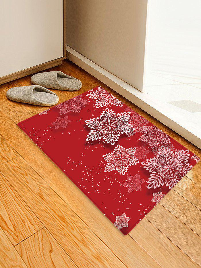 New Christmas Snowflake Pattern Floor Rug