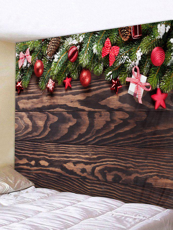 Online Christmas Wooden Pattern Tapestry