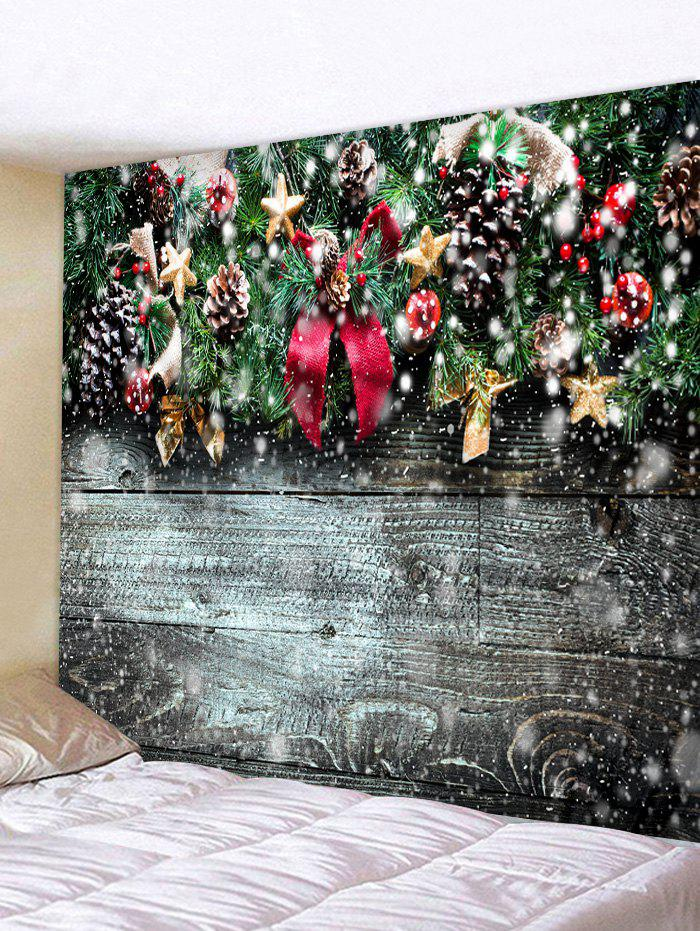 Unique Christmas Wooden Pattern Tapestry