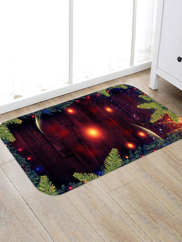 Cheap Christmas Tree Branch Wood Grain Pattern Water Absorption Area Rug