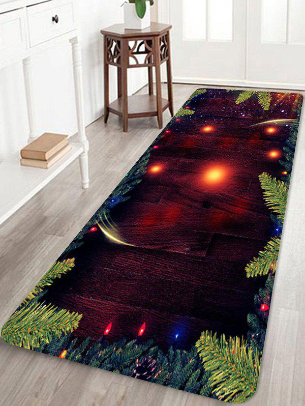 Hot Christmas Tree Branch Wood Grain Pattern Water Absorption Area Rug