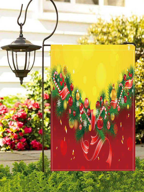 Best Christmas Tree Balls Print Garden Flag