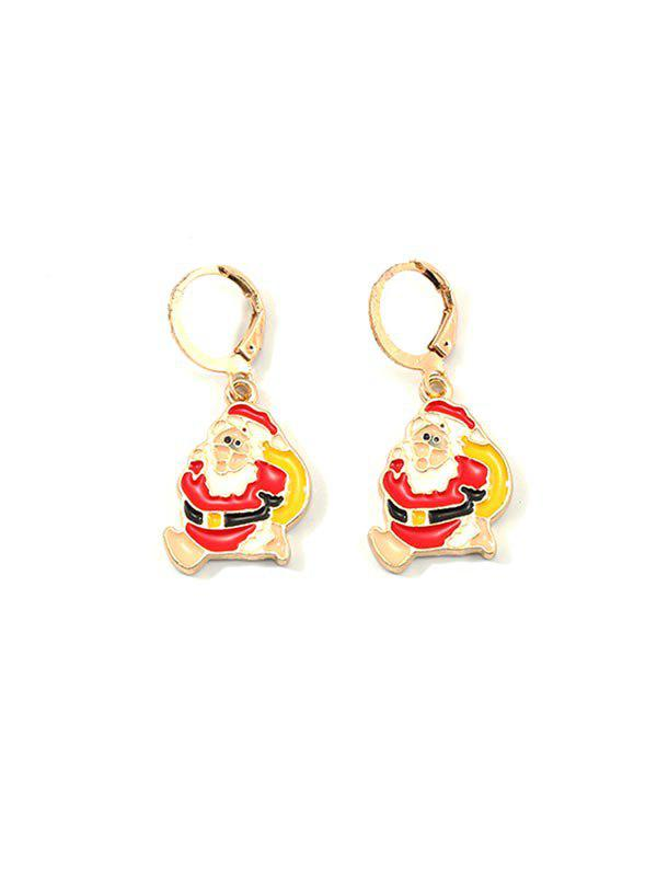 Trendy Christmas Cartoon Design Hoop Drop Earrings