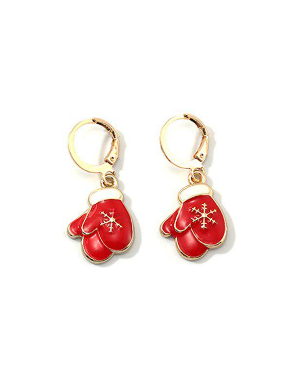New Christmas Cartoon Design Hoop Drop Earrings