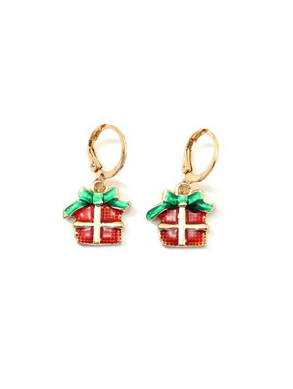 Fancy Christmas Cartoon Design Hoop Drop Earrings