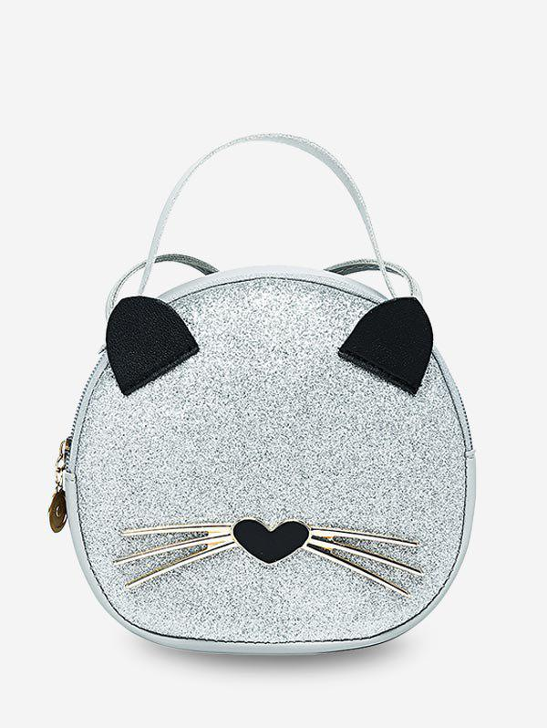 Affordable Cute Cat Top Handle Round Crossbody Bag