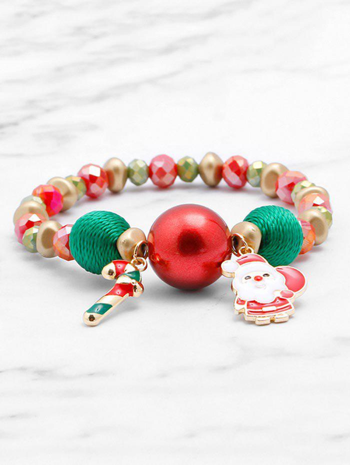 Fashion Christmas Santa Claus Elastic Beaded Bracelet