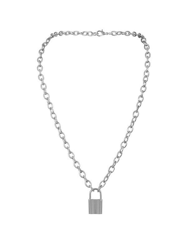 Hot Lock Link Chain Pendant Necklace