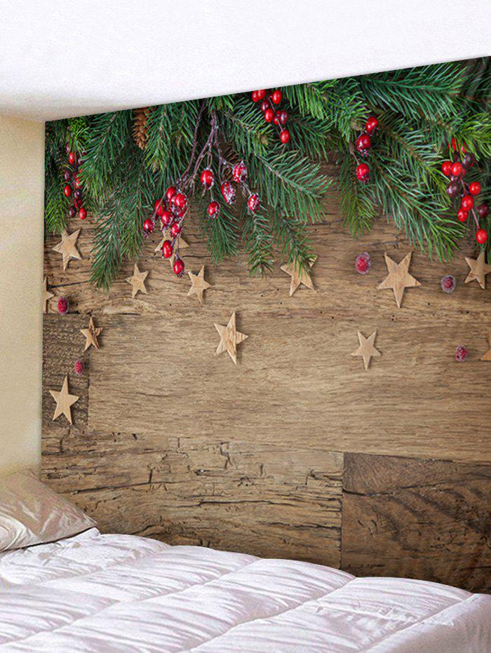 New Christmas Wooden Pattern Tapestry