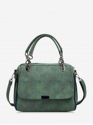 Plaid Line Big Simple Shoulder Bag -