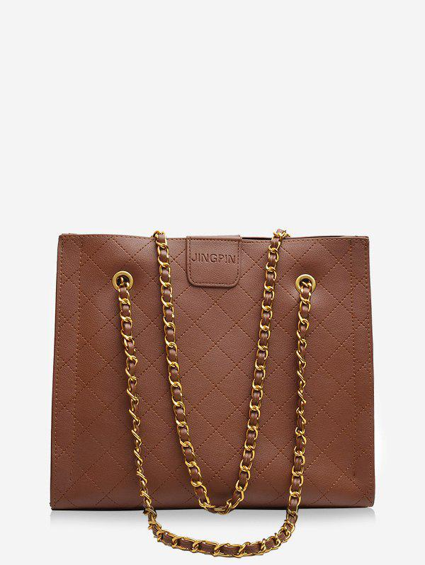 New Square Rhombic Chain Tote Bag