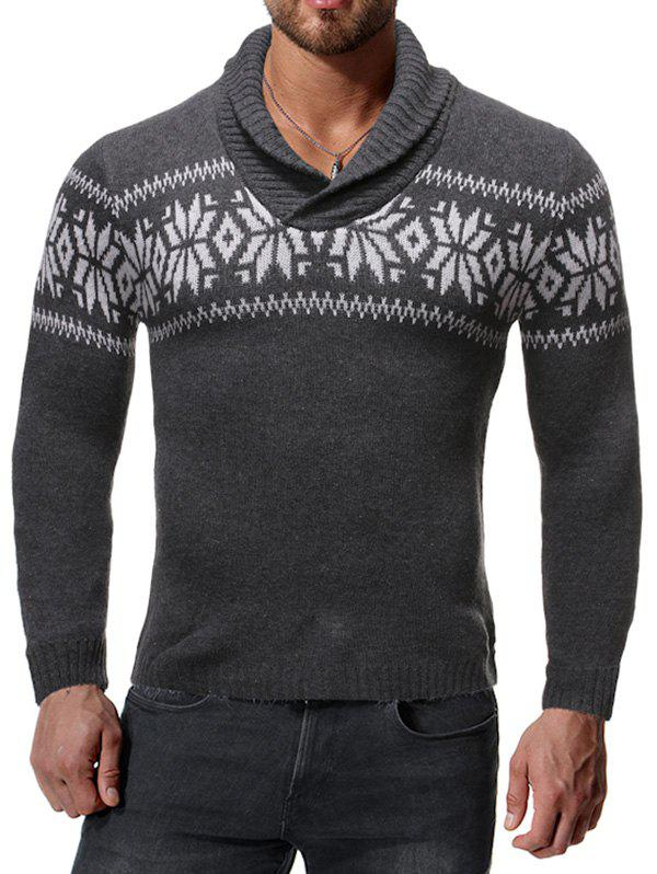 Cheap Casual Snowflake Pattern Long Sleeves Sweater