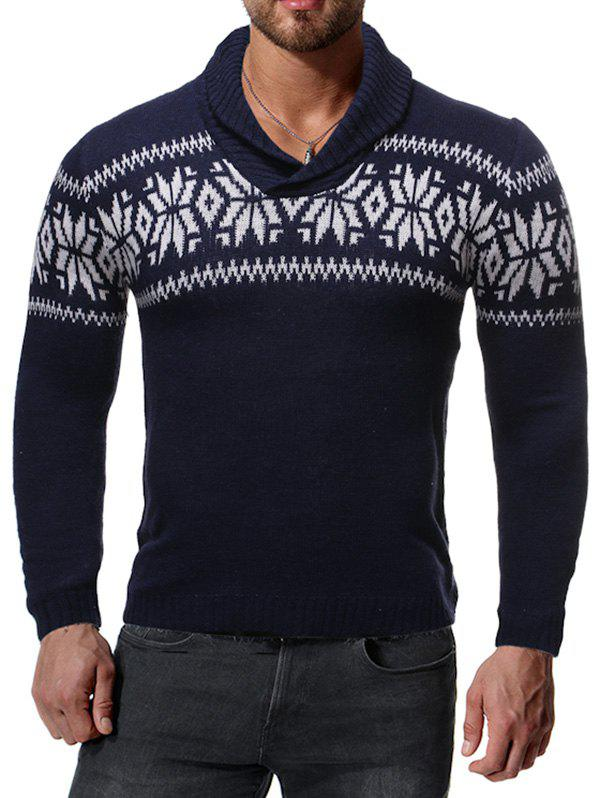 Store Casual Snowflake Pattern Sweater