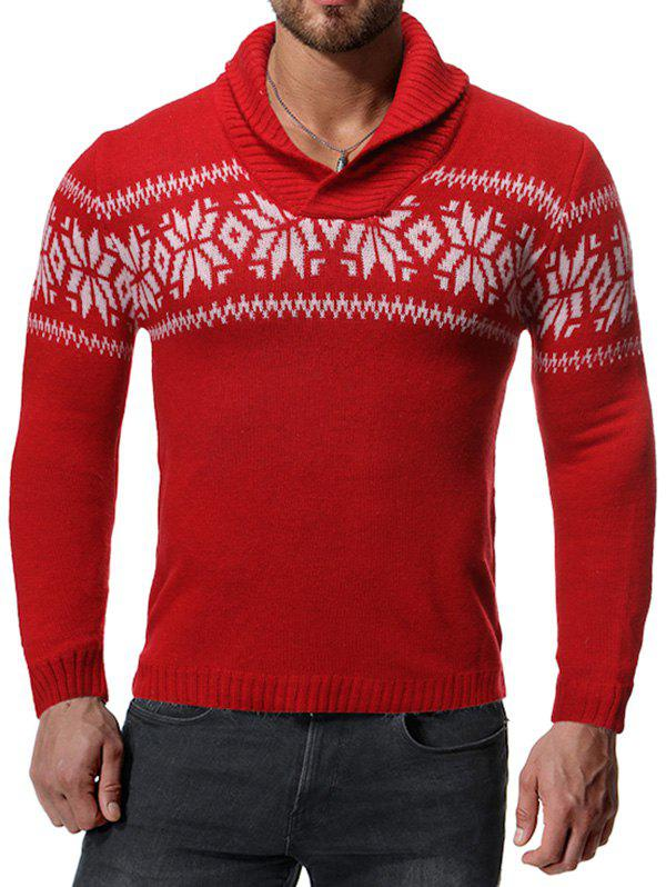 Shop Casual Snowflake Pattern Sweater