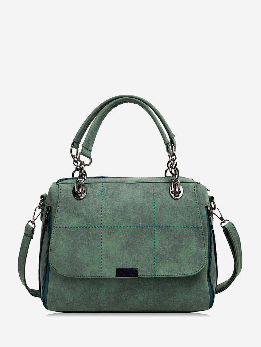 Best Plaid Line Big Simple Shoulder Bag