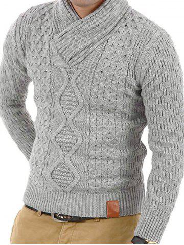 Solid Color Knitted Long Sleeves Sweater