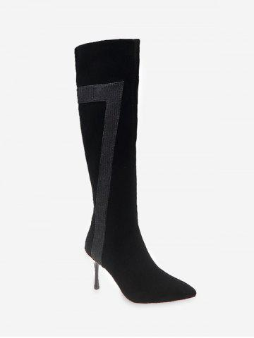 Stiletto Heel Pointed Toe Knee High Boots