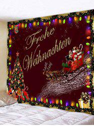 Christmas Tree Santa Claus Pattern Tapestry -