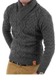 Solid Color Knitted Long Sleeves Sweater -