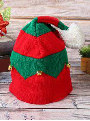 Knitted Bell Decoration Christmas Hat -