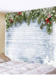 Christmas Wooden Snow Pattern Tapestry -