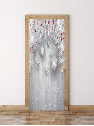 Christmas Wooden Snowflake Door Art Stickers -