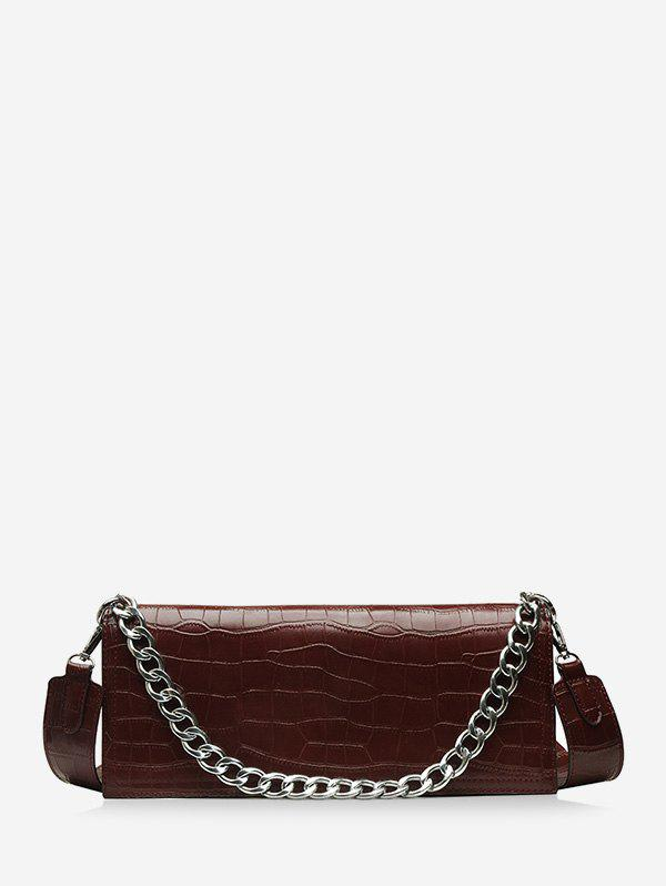 Discount Chain Decorate Embossed Shoulder Bag