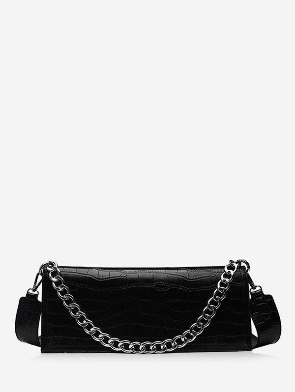 Fashion Chain Decorate Embossed Shoulder Bag