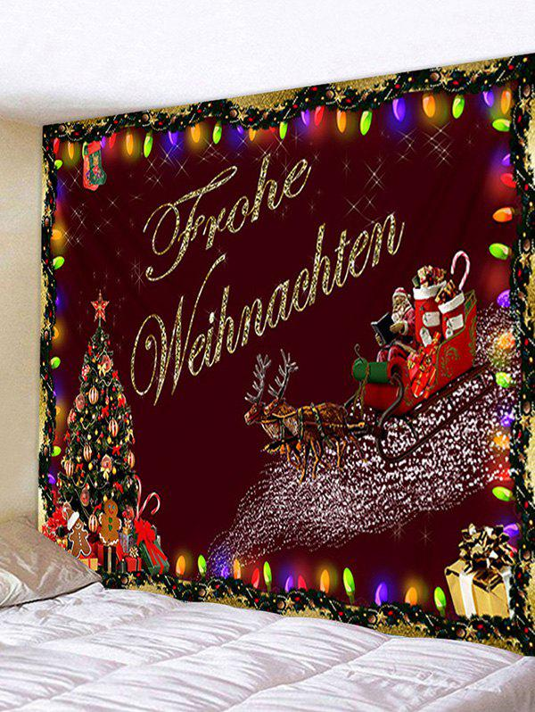 Store Christmas Tree Santa Claus Pattern Tapestry