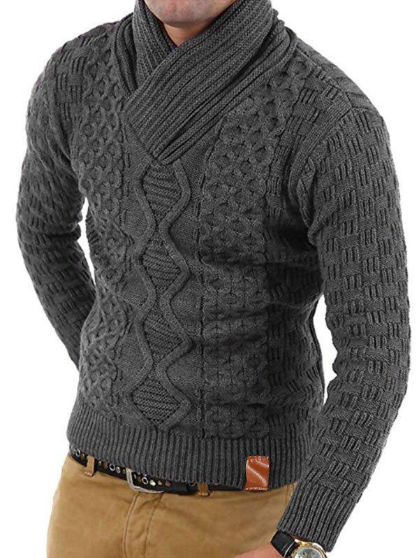 Shop Solid Color Knitted Long Sleeves Sweater