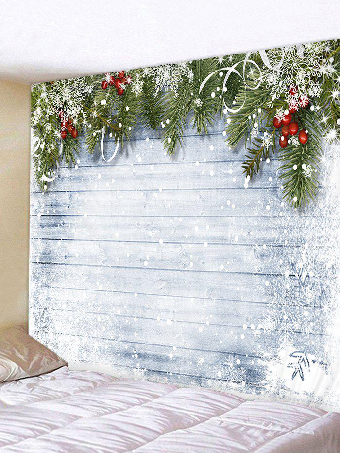 Hot Christmas Wooden Snow Pattern Tapestry