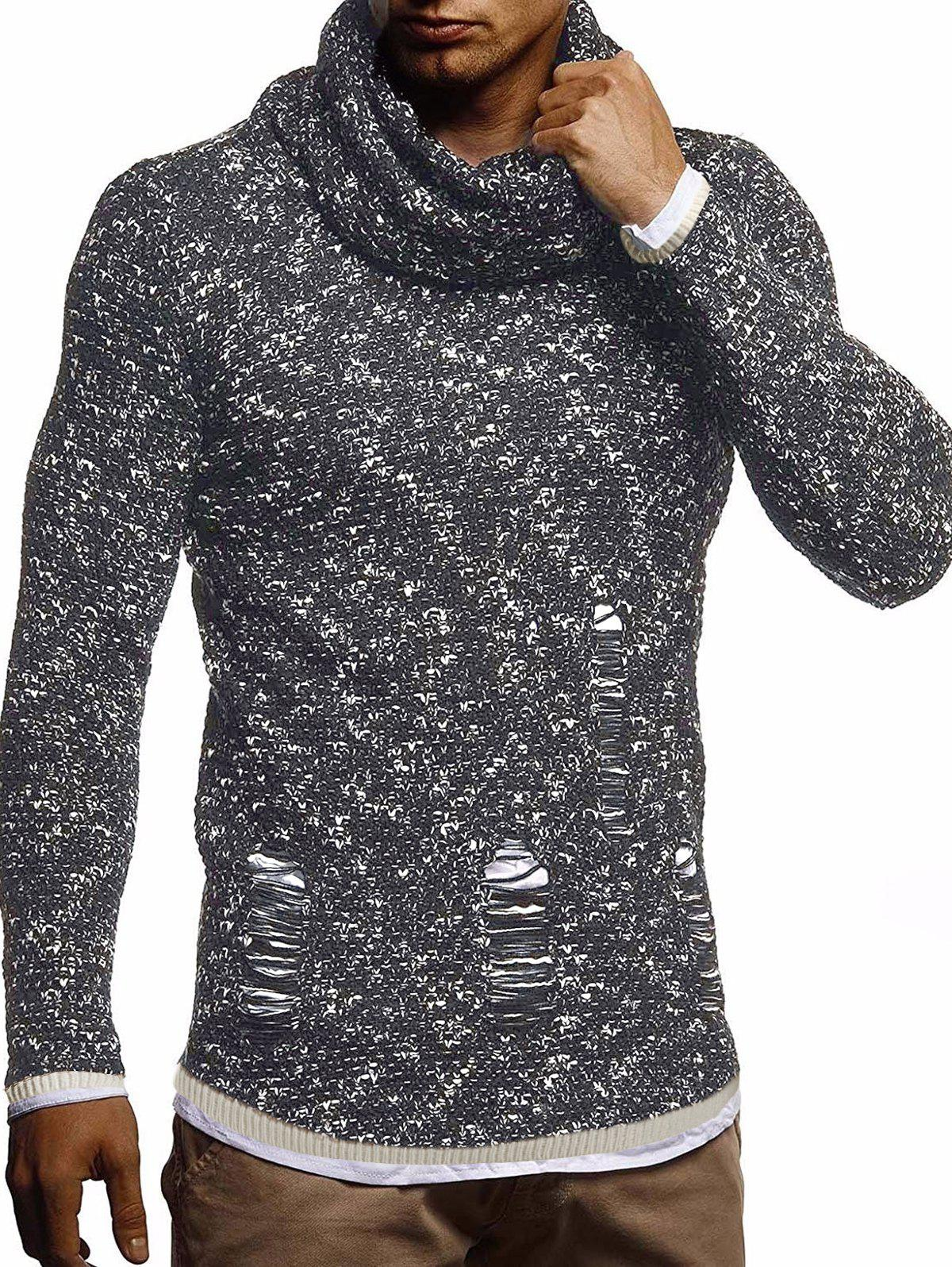 Trendy Ripped Decorated Casual Pullover Sweater