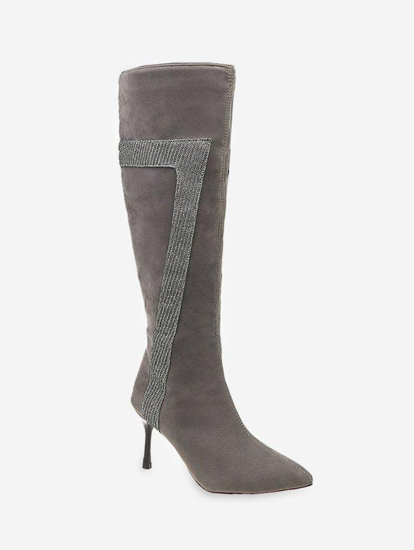 Cheap Stiletto Heel Pointed Toe Knee High Boots