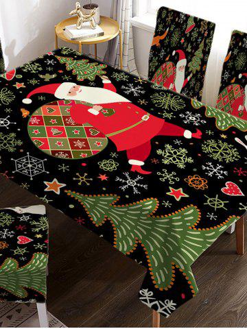 Father Christmas Tree Fabric Waterproof Table Cloth - RED - W55 X L71 INCH