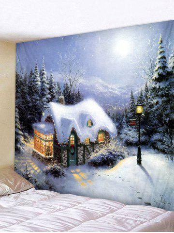 Decoration   Christmas   Tapestry   Forest   House   Print   Hang   Wall   Art