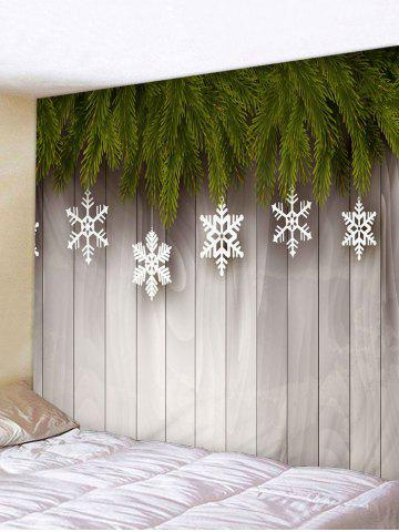 Christmas Snowflake Wooden Board Print Tapestry Wall Hanging Art Decoration