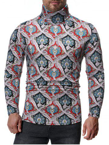 Ethnic Paisley Pattern Long Sleeves T-shirt