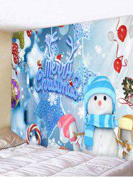 Christmas Snowman Elements Print Tapestry Wall Hanging Art Decoration -