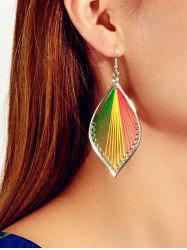 Thread Leaf Design Hook Earrings -