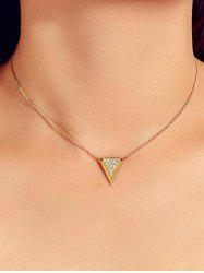 Artificial Diamond Triangle Necklace -