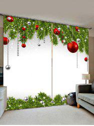 Christmas Ball Pattern Window Curtains -
