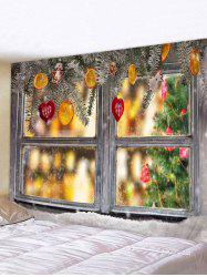 Christmas Decorations Window Print Tapestry Wall Hanging Art Decoration -